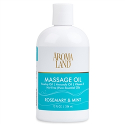 Aromatherapy+ Massage & Body Oil - Rosemary & Mint 12 oz.