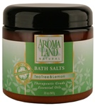 Bath Salts - Tea Tree & Lemon 20 oz. (24 bulk pack)