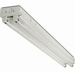 2 light 48 inch premium grade industrial-commercial T8 fluorescent fixture with electronic ballast and lamps