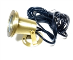 Solid brass halogen pond fixture