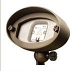 Cast brass 6 Watt LED wall washer flood light