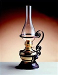 Polished Brass Oil Lamp