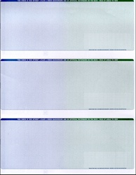 3 Checks Per Page - Blue/Green Fade - CP613-BG MICRpro