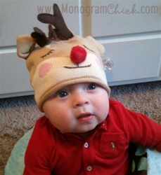 Christmas Hat, Knit Hat for Kids