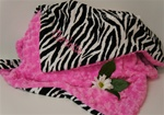 Zebra & Hot Pink  Baby Blanket