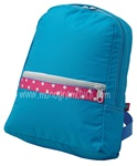 Small Aqua Polka Backpack