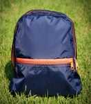 Small Navy & Orange Backpack
