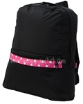 Small Black Polka Backpack