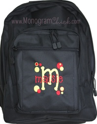Solid Pink Backpack--Perfect with Monogram