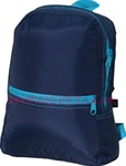 Small Navy and Aqua Backpack