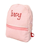 Toddler Sized Pink Seersucker Backpack