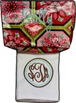 Floral Tile Roadie and Preppy Burp Cloth Set