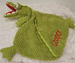 Green Gator  Little Lovie Security Blanket