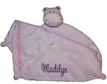 Lavendar Hippo Little Lovie Security Blanket