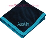 Navy and Aqua Blankie