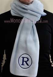Monogrammed Fleece Scarf