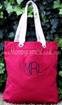 Red Canvas Tote