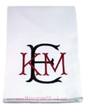 Kitchen Towels with Two Tone Monogram