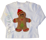 Christmas Shirt for Boys Gingerbread Boy