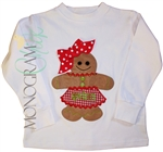 Christmas Shirt for Girls Gingerbread Girl