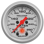 "Auto Meter 4354 2-1/16"" Water Temp, 100- 260`F, W/Peak & Warn"