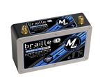 Braille B128L : Battery, No-Weight Standard, AGM, 12V, 1,698 PCA, Top Terminals