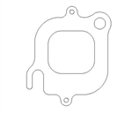 "Cometic C5665-040 Exhaust Gasket .040"" MLS FORD SVO 1.545"" x 1.700"""