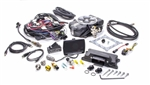 FAST 30400-KIT : Fuel Injection System, EZ-EFI 2.0, Black Throttle Body, 4-Barrel Flange