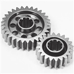 G-Force 0034 : Quick Change Gear Set, Lightweight, 10-Spline, Set 34, 19/26 Teeth