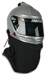 Impact 10000016 : Helmet Skirt, Outer Style, Nomex, Black, SFI 3.3/5, Hook & Loop Attach