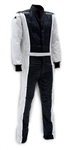 Impact 24215413 : Driving Suit, The Racer, Black/Gray, Medium, SFI 3.2A/5