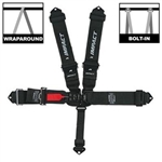 Impact 51111111 : Seat Belt Harness, Latch & Link, 5-Point, Pull Down, Black, SFI 16.1