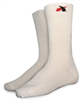 Impact 79000410 : Fire-Retardant Socks, White, Medium, SFI 3.3