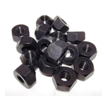 Kluhman 8202 : Lugnuts, 12mm x 1.25 RH Thread, Aluminum, Black, Set of 16