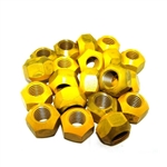 "Kluhman 8212T : Lugnuts, 5/8""-11 RH Thread, Steel, Yellow, Set of 20"