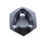 "Kluhman 8220 : Stud Thread Chaser, 5/8""-18 Thread, Steel, Black"