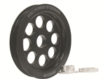 "KRC 40150300 : Pulley, Alternator, Serpentine, 3-Groove, 3-1/2"", Aluminum, Black"