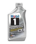 Mobil 1 112628 : Motor Oil, Full Synthetic, 0W40, 1 Quart
