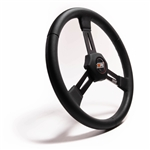 "MPI D2-15 : Steering Wheel, 15.00"" Diameter, Flat, Poly Grip (Dirt Late Model / Sprint Car)"