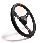 "MPI DM2-15 : Steering Wheel, 15.00"" Diameter, 2.25"" Dish, Poly Grip (Dirt Late Model / Modified)"