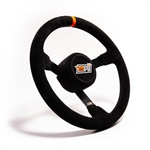 "MPI DP-13 : Steering Wheel, 13.00"" Diameter, 3.00"" Dish, Suede (Asphalt Late Model)"