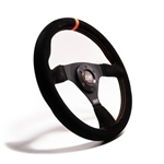 "MPI F-14-C : Steering Wheel, 13.75"" Diameter, 1.25"" Dish, Suede (Off Road/Drifting)"