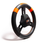 "MPI KQR-11 : Steering Wheel, 10.75"" Diameter, 1.25"" Dish, High Grip (Quarter Midget)"