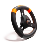 "MPI KQS-11 : Steering Wheel, 10.75"" Diameter, 1.25"" Dish, High Grip (Quarter Midget)"