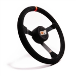 "MPI LM-15 : Steering Wheel, 15.00"" Diameter, 3.25"" Dish, Suede (Asphalt Late Model)"