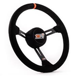 "MPI LM-15-A : Steering Wheel, 15.00"" Diameter, 3.25"" Dish, Suede (Asphalt Late Model)"