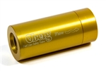 Oberg SV-0828 : Fuel Check Valve, -8 AN Female Ports, 180 GPH, Aluminum, Gold Anodized
