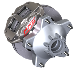 PFC Brakes 94.323.410.440.12 Nickel Plated Rear Caliper ZR94 Trailing Right