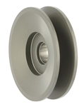 Powermaster 181 Alternator Pulley, V-Belt, 1-Groove, Aluminum, Hard Anodized, .642 in. Bore, Bolt-On, Universal, Each