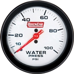 "Quickcar 611-7008 : Extreme Water Pressure Gauge, 2-5/8"" Diameter, 0-100 PSI"